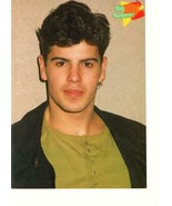 Jordan Knight Alyssa Milano teen magazine pinup clipping New Kids earring - $3.50