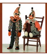 Indygo Juntion Pattern Clownin' Around Handmade Yo-Yo and Stuffed Clown - $7.95