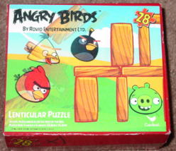PUZZLE ANGRY BIRDS 28 PIECE LENTICULAR PUZZLE  2012 CARDINAL COMPLETE EX... - $4.00