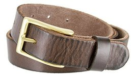"Women's Vintage Style Full Grain Leather 1-1/8"" Wide Belt (Brown, 44) - $22.72"