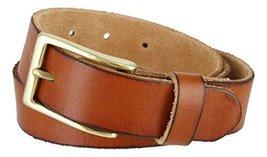 "Men's Vintage Style Full Grain Leather 1-1/8"" Wide Belt (Tan, 34) - $22.72"