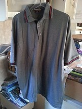 CATALINA BAY Men's Casual Shirt Polo GREY GRAY LARGE L   NEW w/Red on co... - $3.95