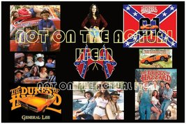 "Dukes of Hazzard 24 x 36"" Collage Wall Poster 1969 General Lee Bo Luke D... - $19.99"