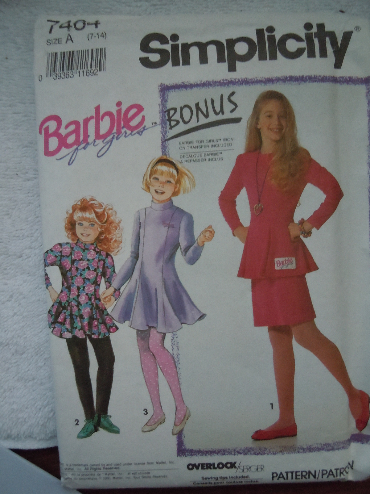 Primary image for Simplicity Barbie for Girls Size 7-14 Pants Skirt Dress Top #7464 Uncut