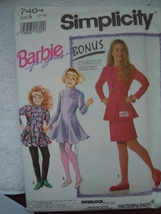Simplicity Barbie for Girls Size 7-14 Pants Skirt Dress Top #7464 Uncut - $5.99