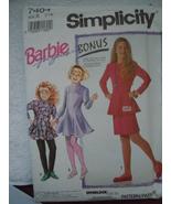 Simplicity Barbie for Girls Size 7-14 Pants Skirt Dress Top #7464 Uncut - $5.99