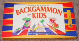 BACKGAMMON FOR KIDS LEARN & PLAY GAME 1999 SOMERVILLE HOUSE COMPLETE EXC... - $15.00