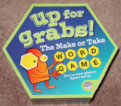 UP FOR GRABS MAKE OR TAKE WORD GAME 2009 MINDWARE COMPLETE EXCELLENT - $20.00