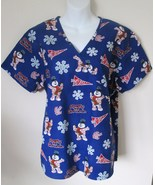 Womens Scrub Top Size L Frosty the Snowman Chr... - $20.00