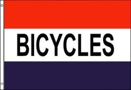 3'x5' BICYCLES FLAG BUSINESS ADVERTISING SIGN OUTDOOR INDOOR BANNER HUGE... - $8.62