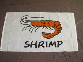 SHRIMP FLAG 3X5 SEAFOOD ADVERTISING SIGN BANNER - $8.62