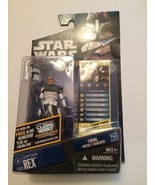 Hasbro STAR  WARS the CLONE  WARS : CAPTAIN  REX w/ FIRING  MISSILE LAUNCHER! - $30.20