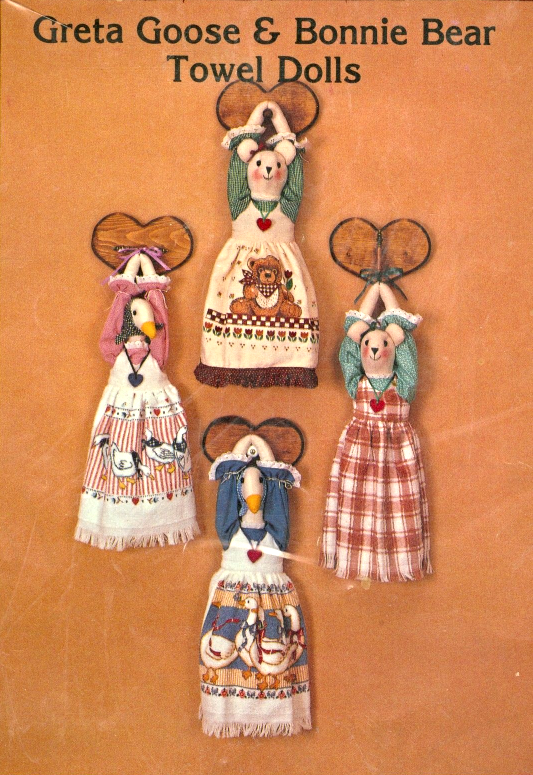 Primary image for Greta Goose and Bonnie Bear Kitchen Hand Towel Dolls Pattern