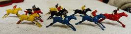 Vintage Late 1920-30s Twelve Escalado Lead Race Horses 2 Have Broken Fro... - $63.82