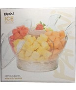PARINI ICE SERIES SERVING BOWL WITH ICE CHILLER  & LID PARTY FRUITS VEGE... - $19.95