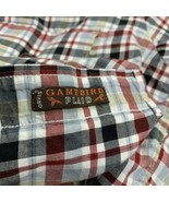 Men's Orvis Button Up Long Sleeve Shirt Size Large Game Bird Plaid Red B... - $21.78