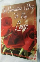"""Giant Valentine's Day Card Roses 16""""x24"""" """"On Valentine's Day To My Love"""" - $2.99"""