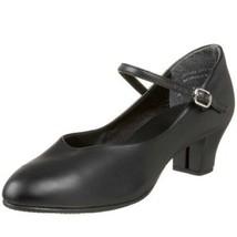 """Leo's 318 Women's Size 4.5M Black Jr. Chorus Line 1.5"""" Character Shoe - $24.74"""