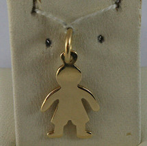 SOLID 18K YELLOW GOLD BOY PENDANT, BABY, LENGTH 0,91 IN MADE IN ITALY image 1