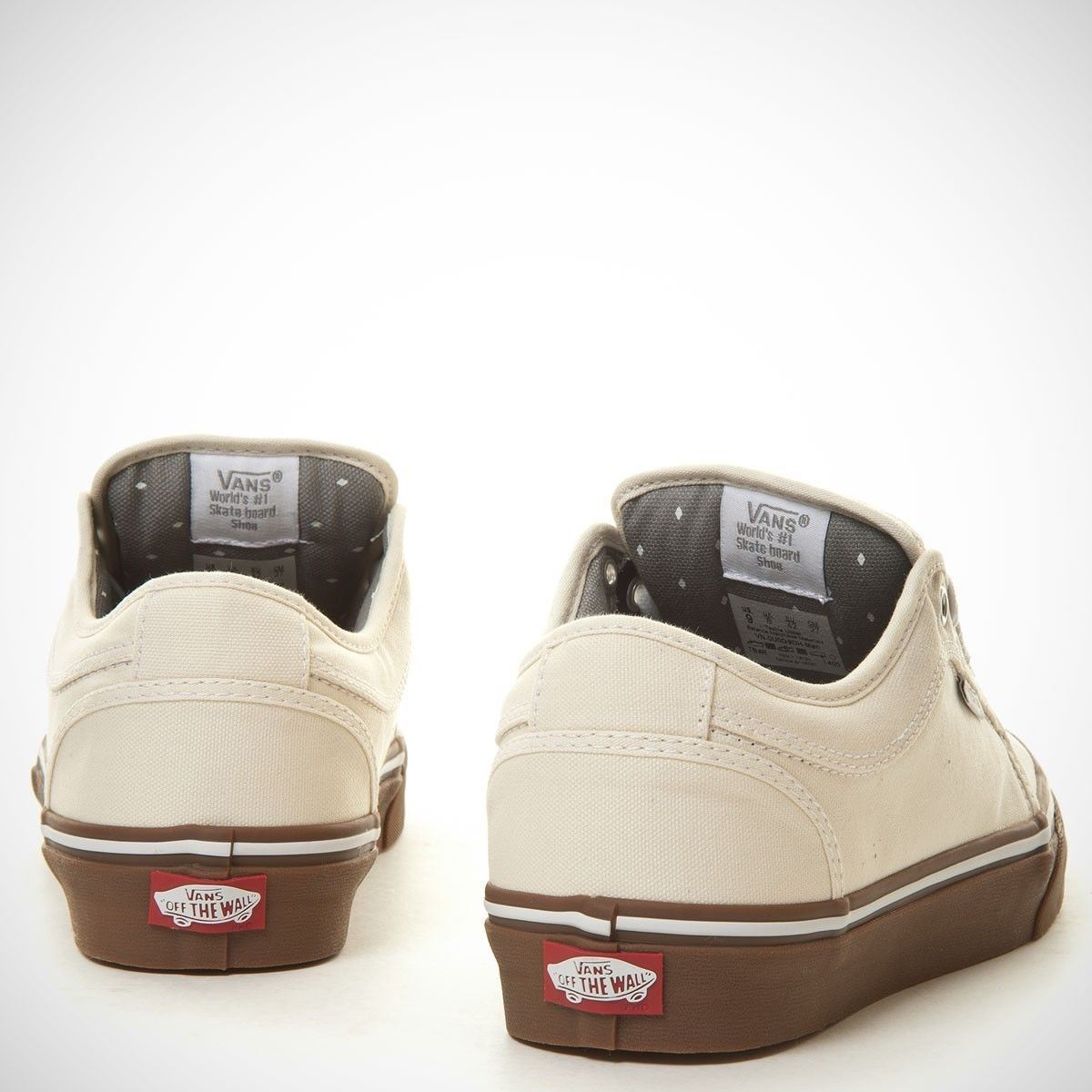 VANS Chukka Low White/Gum UltraCush Pro Skate Shoes MEN'S 7 WOMEN'S 8.5 image 3