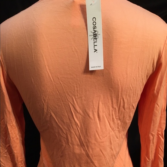 Cosabella Mellon Orange Long Sleeve Sleep Top size S NEW