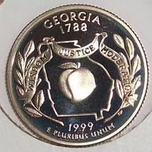 1999-S Clad Proof Georgia State Quarter PF65DC #417 - $5.59