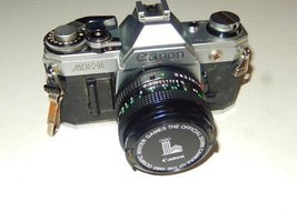 VINTAGE CAMERA- CANON AE-1 - LENS FD 50MM 1:1.8 - EXC CONDITION - $157.25