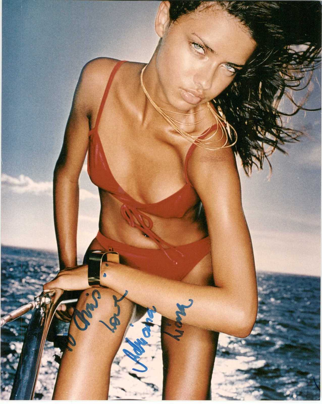Primary image for Adriana Lima Signed Autographed Sexy Glossy 8x10 Photo