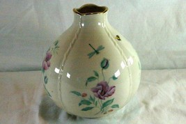 "Lenox 2005 Morningside Cottage Globe Vase Butterflies Bees 7"" - $9.69"