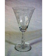 "Fostoria 1954 Mayflower Water Goblet 7 3/8"" Stem #6020 Cut #332 - $13.49"