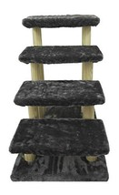 Cowboy Wooden pet Stairs 4-Step pet Ladder cat Dog Easy Stairs with Deta... - $89.31