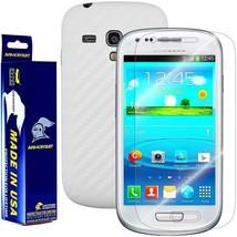 ArmorSuit MilitaryShield Samsung Galaxy S3 Mini Screen + White Carbon Fiber Skin - $32.99