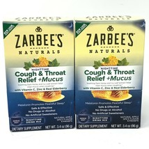 2 - ZarBee's Naturals Cough Throat Relief +Mucus Nighttime Total Packet... - $17.72