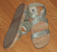 WHITE MOUNTAIN STRAPPY SANDALS SIZE 7-10 SILVER SPARKLY NWT - $17.99