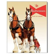 Budweiser Bud Beer Clydesdale Team Vintage Retro Style Decor Metal Tin Sign New - $8.95