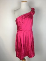 BCBG Max Azria Women's Pink One Shoulder Formal Cocktail Dress Size 8 - $24.74
