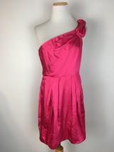 BCBG Max Azria Women's Pink One Shoulder Formal Cocktail Dress Size 8 - $24.74