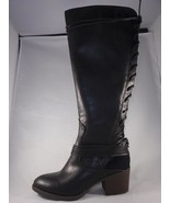 Women's CANDIES CONGO Black Pull On Knee High Western Casual Dress Boots... - $27.85