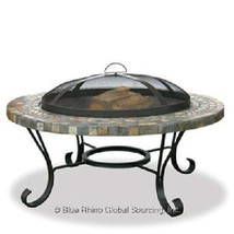 Uniflame Green Slate Firepit Outdoor Patio Deck Wood Burning Fireplace  - $195.95