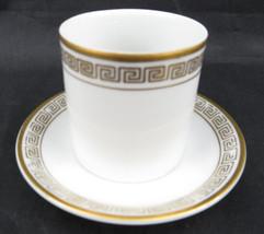 Vintage Porcelain Lefton Bone China Hand Painted Cup Shott Saucer Gold Edge - $35.00