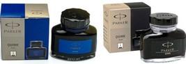 Parker Ink Bottle Set of 2 Bottles Black & Blue - $9.90