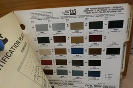 1985 Corporate PPG Paint Color Chips, AMC Renault Chrysler, Ford +, Free US Ship - $11.99
