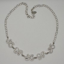 Silver Necklace 925 Wings Of Butterfly With Zircon By Maria Ielpo Made IN Italy image 1