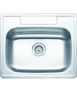 Aspen 25W X 22L X 8D Single Bowl Topmount 3-Hole 20G Stainless Steel Sink - $175.68