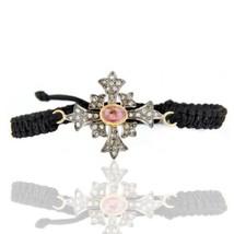 Pave Diamond Pink Tourmaline Gold Vermeil 925 Sterling Silver Bracelet J... - $72.27