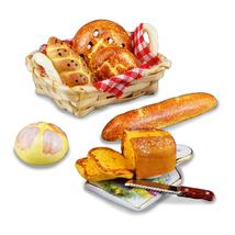DOLLHOUSE Fresh Breads w Cutting Board 1.795/6 Reutter Miniature  - $35.70