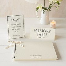 "Large Luxury 12"" x 8"" Memory Book & 2 Sign Set for Funeral, Remembrance,... - $39.61"