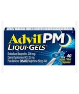 Advil PM Liqui Gels Pain Reliever 40 Liquid Filled Capsules 200mg - $14.85