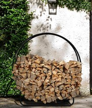 Large Firewood Rack Decor Circular Patio Stove Firepit Wood Log Storage ... - $56.05