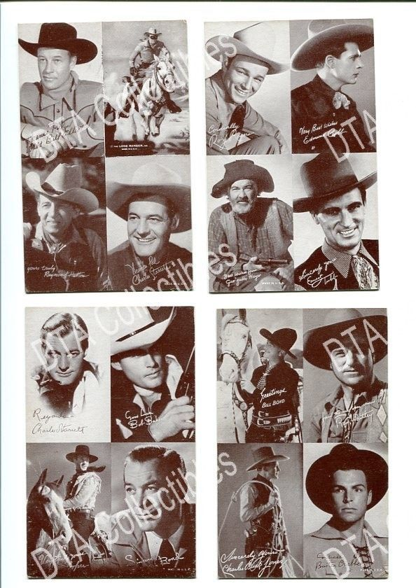 Primary image for BUSTER CRABBE-RAY WHITLEY-CHARLES JONES-ARCADE CARD LOT